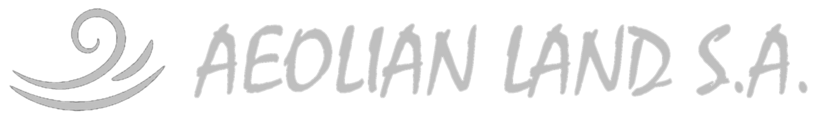 Monochrome logo of Aeolian Land S.A.